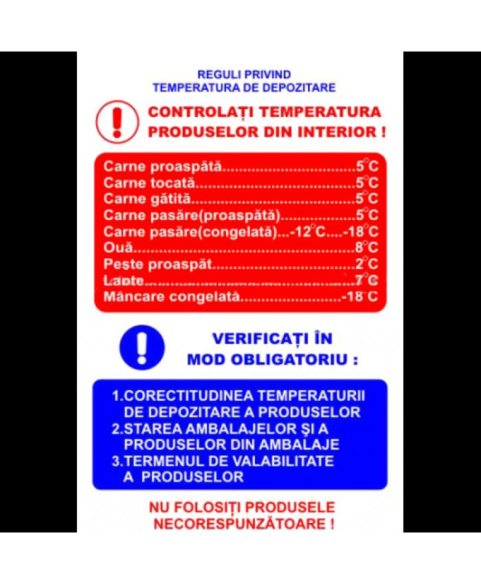 Indicatoare Pentru Reguli Privind Temperatura De Depozitare