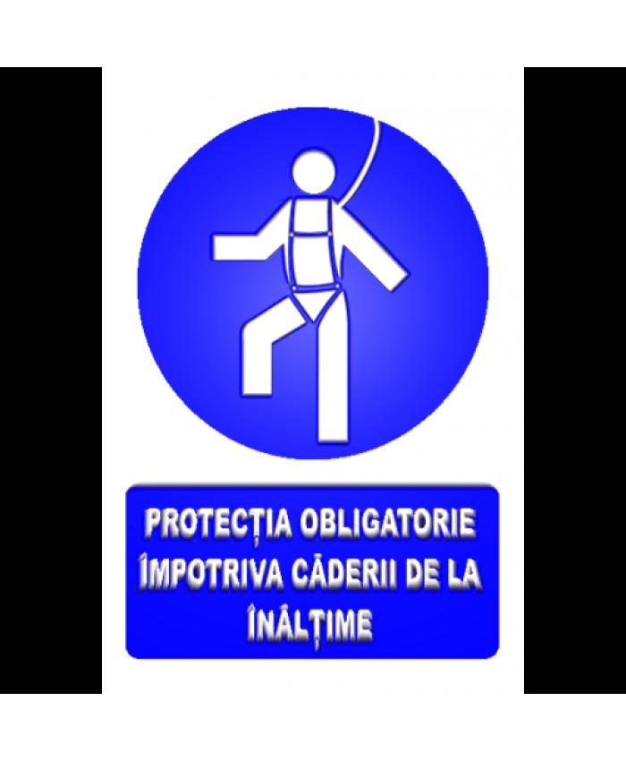 Indicatoare Pentru Protectie Obligatorie Impotriva Caderii De La Inaltime